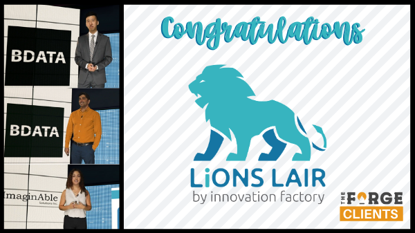 BDATA and ImaginAble Solutions Score Top Prizes in LiONS LAIR