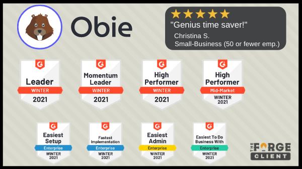 Obie receives numerous G2 awards