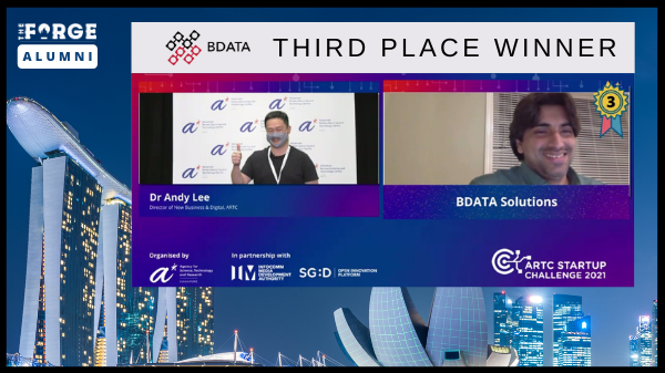 BDATA places third in an international ARTC Startup Challenge