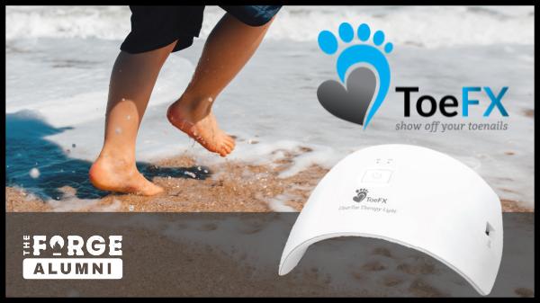 ToeFX product - feet on beach